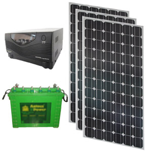 SOLAR HYBRID UPS - SOLARIZ UPS 375Wp 800VA 180AH