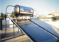 SOLAR Water Heater - CASCADE Water Heater - Celesti Blue Diamond